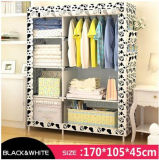 Modern Simple Wardrobe Household Fabric Folding Cloth Ward Storage Assembly King Size Reinforcement Combination Simple Wardrobe (FW-21)