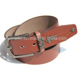 China New Design Men Leather Pin Buckle Embossed Leather Belt