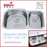 Cupc Recognized Under Mount Stainless Steel Kitchen Sink (9553AL)