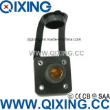 Qixing Cam-Lock Panel Mounted Socket IP44 400A 600V Black