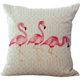 Wholesale Digital Printing Sofa Cushion/Pillow with Flamingo Cushion Cover