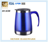 Customized Large Stainless Steel Travel Mug with Handle (SH-SC08)