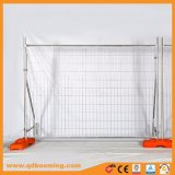 Orange Plastic Feet Wire Mesh Temporary Fencing