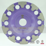 "6"" T Shape Segment Diamond Concrete Floor Grinding Cup Wheel"