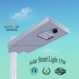 12V Outdoor Aluminum IP65 Waterproof Solar LED Street Light 15W