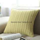 Double-Cable Knitting Patterns Super Soft Square Pillow Covers Cushion