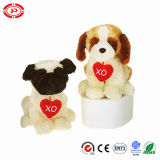 Sitting Plush Soft Dog Cute Stuffed Puppy Toy with Heart