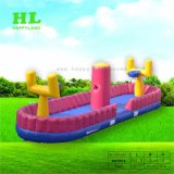 Challenging Bungee Run Inflatable Basketball Sport Game as Kids Toy