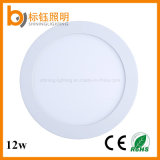 CRI>85 Indoor LED Ceiling-Mounted 85-265V 12W Round Panel Light