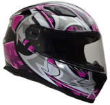 Professional ECE Approved Double Visor Motorcycle Full Face Helmet of ABS