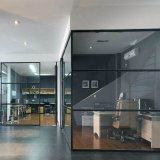 Office Area Sound Proof 6063 Aluminum Alloy Glass Partition Wall Price Per Square Meter