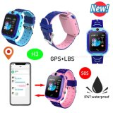Cheap IP67 Waterproof Kids GPS Tracking Watch with Geo-Fence H3
