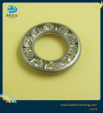 Custom Logo Diamond Inlay Brass Round Eyelets for Garment, Trousers