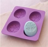 DIY Handmade Soap Molds Silicone Cake Mold Oval Shape Paradise Tree Baking Mold