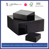 Glossy Black Collapsible Gift Boxes for Folded Flat Shipping
