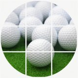 Durable Plastic Practice Hollow Indoor Golf Ball Hollow Golf Training Balls