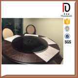 10 or 12 mm Clear Transparent Glass Hotel Round Glass Turn Plate (BR-BL036)