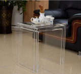 Custom Design Clear Acrylic Nesting Table