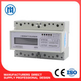 Three 3 Phase Electronic DIN Rail Kwh AC Energy Meter