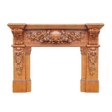 Classic Hand Carved Wooden Fireplace Mantel PT8009