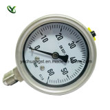 63mm Oil Filled Bottom Connection Pressure Gauge