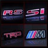 Red Auto Badge LED Light Grille Emblems for BMW M Toyota Trd Si RS