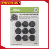 18PC Black Round Furniture Pads