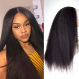 "Kinky Straight Coarse Straight Lace Front 13"" by 4"" Wig"
