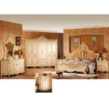 Antique Bedroom Furniture with King Bed and Wardrobe (W811B)