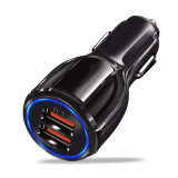 Cheapest Quick Charge 2.4A Mini Dual USB Travel Car Charger for Cell Phone