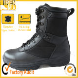 Black Genuine Leather Military Army Police Combat Boot