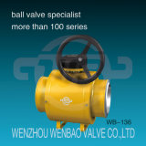 API 6D Fully Welded Full Port Ball Valve with Gearbox