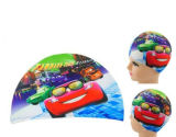 Lycra Cars Swimming Cap for Children Kids Boy & Girl