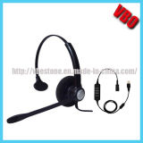 New Style Call Center Telephone Headset with Qd/ USB Jack