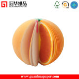 3D Orange Sticky Note Customized Fruit Sticky Note Pad