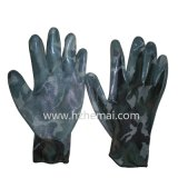 Camouflage Gloves Nitrile Coated Military Safety Work Glove