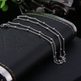 Stainless Steel Link Chain Satellite Ball Curb Chain Necklace Jewelry