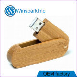 Twist Wood USB Flash Memory with Engrave Logo