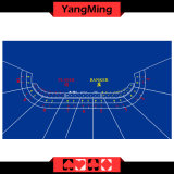 100% Polyester Fabric 9 Player Casino Poker Dedicated Table Layout for Casino Gambling Games with Blue Color Layout (YM-BL01B)