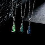 Glow in Dark Locket Silver Hollow Glowing Stone Luminous Pendant Necklace, Halloween Fashion Jewelry