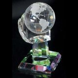 Personalized Laser Engraved Glass Crystal Ball Trophy for Souvenir
