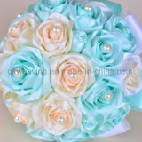 Handmade Colorful Satin Artificial Flower Holding Bridal Wedding Bouquets