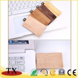 Card Shape USB Flash Drive Memory Stick Wooden USB