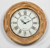 Antique Design Round Wooden Wall Clock