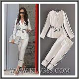 Designer Ladies Autumn White Formal Wedding Suit Pant