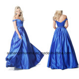 New Style Beading V-Neck Long Satin Evening Prom Dress