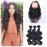 Stock Human Hair Weave with 360 Lace Wig