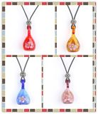 Jinsha Bowling Shape Pendant with Small Flower Fashionable Perfume Necklace Pendants
