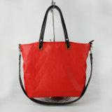 European Style Woman Tote Bag Big Capacity Red PU Handbag Shopping Wholesale Lady Aimali Bag