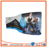 Advertising Curved Tension Fabric Backwall Display for Booth